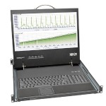 1U Rack-Mount Console with 19-in. LCD, Short-Depth