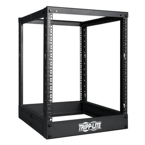 TrippLite 13U 4-Post Open Frame Rack Cabinet Square Holes 1000lb Capacity