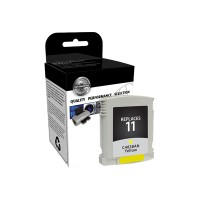 V7 Yellow - remanufactured - ink cartridge ( equivalent to: HP 11 ) - for HP Business Inkjet 1000, 1100, 1200, 2300, 2800; DesignJet 11X, 70; Officejet Pro K850 V7838A