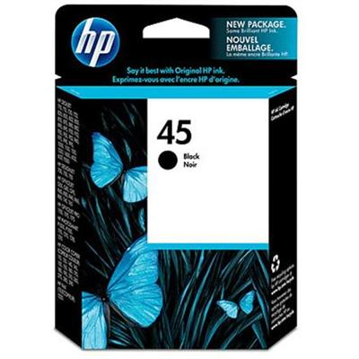 HP 45 Black Inkjet Print Cartridge (51645A#140)