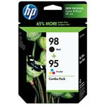 95/98 Combo Pack - 2-pack - black, color (cyan, magenta, yellow) - original - ink cartridge - for Officejet 100, 150, 6310, H470; Photosmart 25XX, 2610, 2710, 335, 385, 425, C4140, D5145