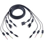 Video / USB / audio cable - 4 pin USB Type B, DVI-I, mini-phone 3.5 mm (M) to USB, DVI-I, mini-phone 3.5 mm (M) - 12 ft