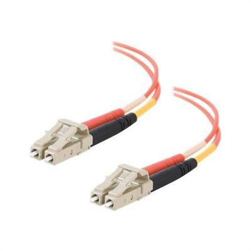 Cables To Go LC-LC 62.5/125 OM1 Duplex Multimode PVC Fiber Optic Cable (USA-Made) - patch cable - 33 ft - orange