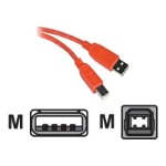 USB cable - USB (M) to USB Type B (M) - USB 2.0 - 6.6 ft - orange