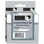 Dymo Rhinopro 1/2In White-Perm Poly Tape