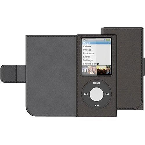 Belkin Eco-Conscious Leather Folio for iPod nano 4th Generation - Black