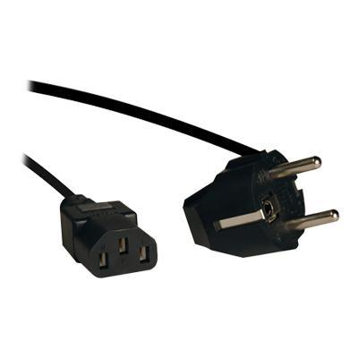 TrippLite 2 Prong European Computer Power Cord 10A C13 to SCHUKO CEE 7/7 - Power cable (250 VAC) - IEC 320 EN 60320 C13 (F) - ...