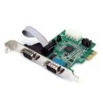 2-Port Native PCI Express RS232 Serial Adapter Card with 16950 UART