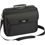 "16"" Traditional Clamshell Case with Zip-Thru Checkpoint Friendly Design - Black"
