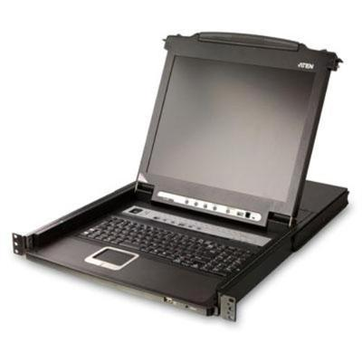 Aten Technology 16 Port LCD KVM - Rack-mountable - TFT - 17