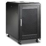 WN1510 - Rack - black, RAL 9011 - 15U - 19""