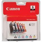 BCI-6 Six Pack - 6-pack - black, yellow, cyan, magenta, photo cyan, photo magenta - original - ink tank - for i9900; PIXMA iP8500