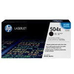 Color LaserJet CE250X Black Print Cartridge with HP ColorSphere Toner