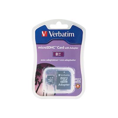 Verbatimflash memory card - 8 GB - microSDHC(96807)