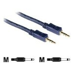 Velocity 12ft Velocity 3.5mm M/M Mono Audio Cable - Audio cable - mono mini jack (M) to mono mini jack (M) - 12 ft - shielded - blue