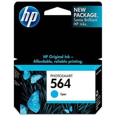 HP 564 Cyan Ink Cartridge (CB318WN#140)