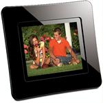 "ViewSonic 3.5"" Digital Photo Frame with Interchangeable Magnetic Faceplates DPD308BK"