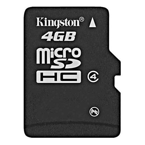 Kingston Digital 4GB microSDHC (Class 4) High Capacity micro Secure Digital Card (SD adapter not included)