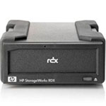 Hewlett Packard Enterprise RDX Removable Disk Backup System - Disk drive - RDX - USB 2.0 - external - with 500 GB Cartridge - for Workstation xw4600; ProLiant DL380 G6, DL380 G7, DL585 G5, ML370 G6; Workstation xw8600 AJ935A