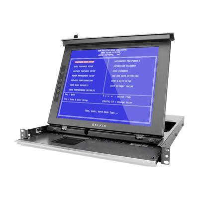 Belkin Titan LCD Rack Console with Dual-Rail Technology - KVM console - 17