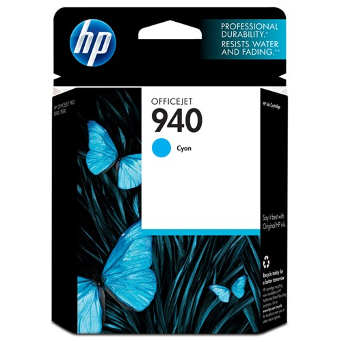 HP 940 Cyan Officejet Ink Cartridge