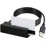 MSR213U - Magnetic card reader (Tracks 1 & 2) - USB - Black