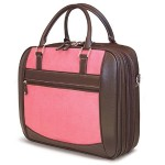 "ScanFast Checkpoint Friendly Element 15.6"" Briefcase - Pink Suede"