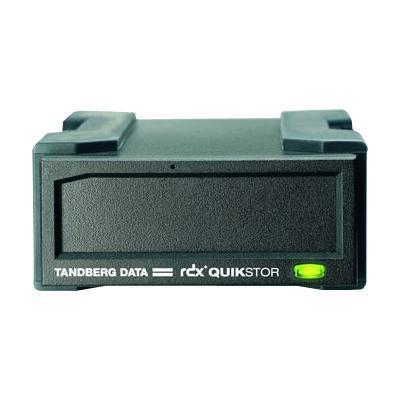 Tandberg DataRDX QuikStor - Storage enclosure - SATA-150 - 150 MBps - Hi-Speed USB - black(8426)