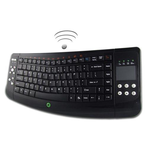 Adesso Wireless SlimTouch Ergo Touchpad Keyboard - USB - Black