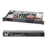Super Micro Supermicro SC510 T-200B - Rack-mountable - 1U - micro ATX - SATA/SAS - hot-swap 200 Watt - black CSE-510T-200B