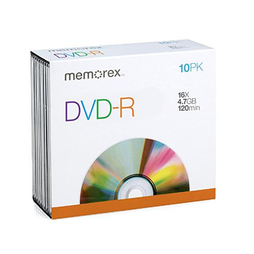 Memorex DVD-R 4.7GB 10 PACK SLIM