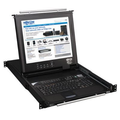TrippLite 16-Port NetDirector 1U Rackmount Console KVM Switch with 17