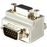 Right Angle VGA to VGA Cable Adapter Type 1 - M/F - VGA adapter - HD-15 (M) to HD-15 (F) - gray