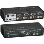 Black Box ServSwitch DT Pro II KVM Switch Kit - KVM / audio / USB switch - USB - 4 x KVM / audio / USB - desktop KV7021A-K