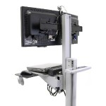 Neo-Flex Dual WideView WorkSpace / Dual-Display Cart