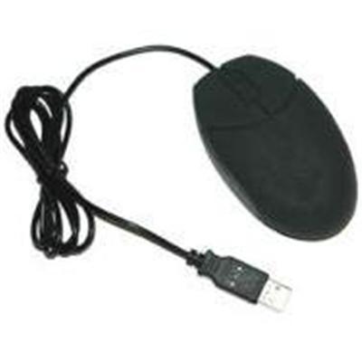 Grandtec USAVirtually Indestructible Silicone Washable Mouse - Black(MOU-600B)