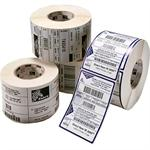Zebra Tech Z-Select 4000D - Perforated coated all-temp acrylic adhesive paper labels - bright white - 4 in x 1 in 14040 label(s) ( 6 roll(s) x 2340 ) - for Desktop GX420, GX430; G-Series GC420, GK420, GX420, GX430; H 2824; LP 28XX; TLP 28XX 10010045