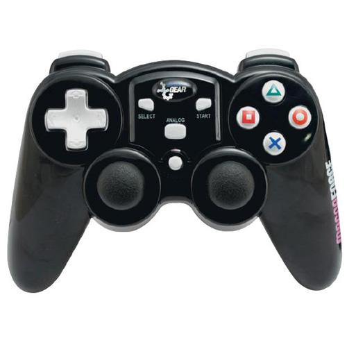 dreamGEAR Magna Force 2.4Ghz RF Wireless Controller (Without Rumble) for PS2 - Black