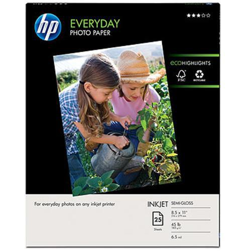 HP Everyday Photo Paper, semi-gloss - 8.5 x 11 in (25 sheets)