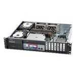 Supermicro SC523 L-410B - Rack-mountable - 2U - ATX 410 Watt - black