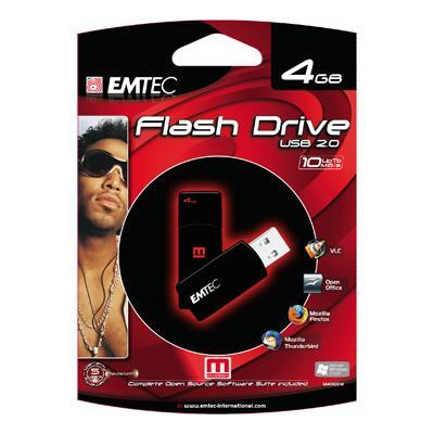 Emtec M400 Swivel 4GB Flash Drive with Em-Desk (EKMMD4GM400EM)
