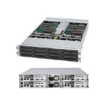 Supermicro SuperServer 6026TT-TF - 4 nodes - cluster - rack-mountable - 2U - 2-way - RAM 0 MB - no HDD - MGA G200e - GigE, InfiniBand - Monitor : none
