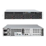 "Supermicro SuperServer 6026T-URF - Server - rack-mountable - 2U - 2-way - RAM 0 MB - SATA - hot-swap 3.5"" - no HDD - DVD - MGA G200e - GigE, InfiniBand - monitor: none"