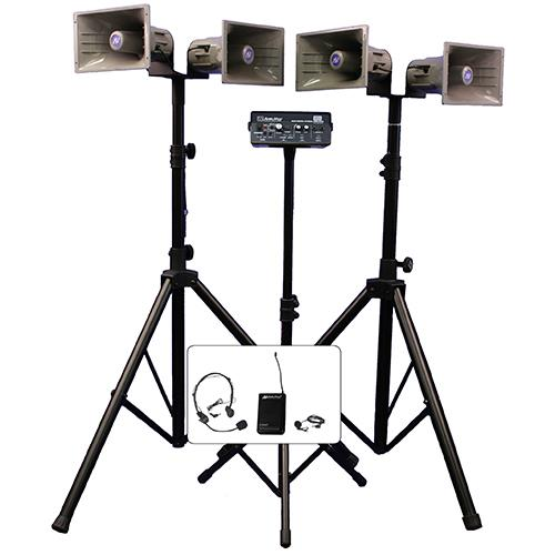 AmpliVox Sound Systems QUAD HORN HALF MILE HAILER KIT