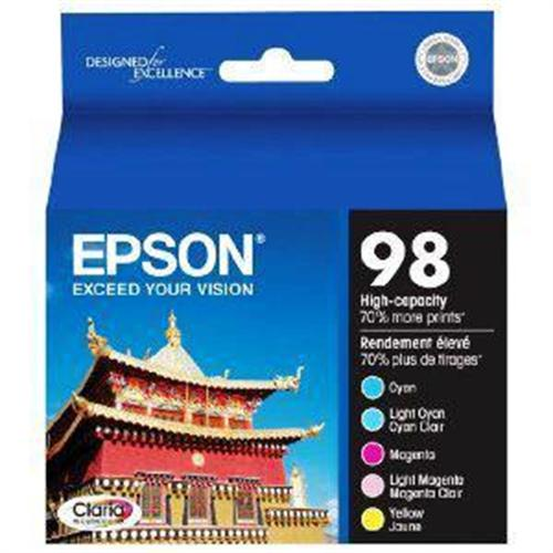 Epson 98 Multi-Pack - High Capacity - yellow, cyan, magenta, light magenta, light cyan - original - ink cartridge