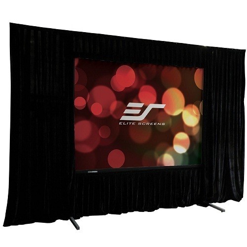 Elite Screens QuickStand Drape Series Q84VD - projection screen with legs - 84 in ( 213 cm )