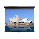 Manual Series M128UWX - Projection screen - ceiling mountable, wall mountable - 128 in (128 in) - 16:10 - Matte White