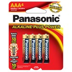 Alkalineplus AAA Batteries, 4 Pack