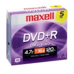 5 x DVD+R - 4.7 GB 16x - jewel case