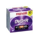 Maxell 10 x DVD+R - 4.7 GB 16x - jewel case 639005